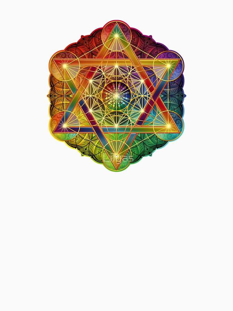 Metatron's Cube with Merkabah and Flower of Life by Lilyas