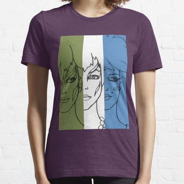 Jem and The Holograms - The Misfits Striped - Color Essential T-Shirt