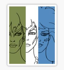 Jem and The Holograms - The Misfits Striped - Color Sticker