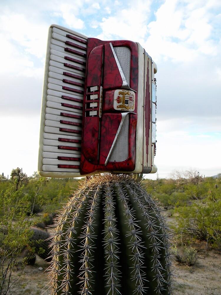 Accordion with Cactus  by xxSliverCrownxx