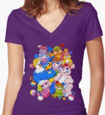 Popples - Group - Color Women's Fitted V-Neck T-Shirt