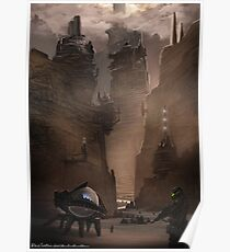Dune Concept work.  The mountains of Arakis Poster