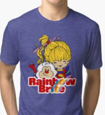 Rainbow Brite - Group - Rainbow & Twink - Large - Color Tri-blend T-Shirt