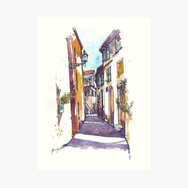 Sunlight Alley in Italy Art Print