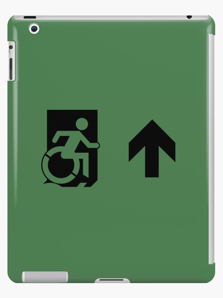 Accessible Means of Egress Icon Emergency Exit Sign, Right Hand Up Arrow by Egress Group Pty Ltd