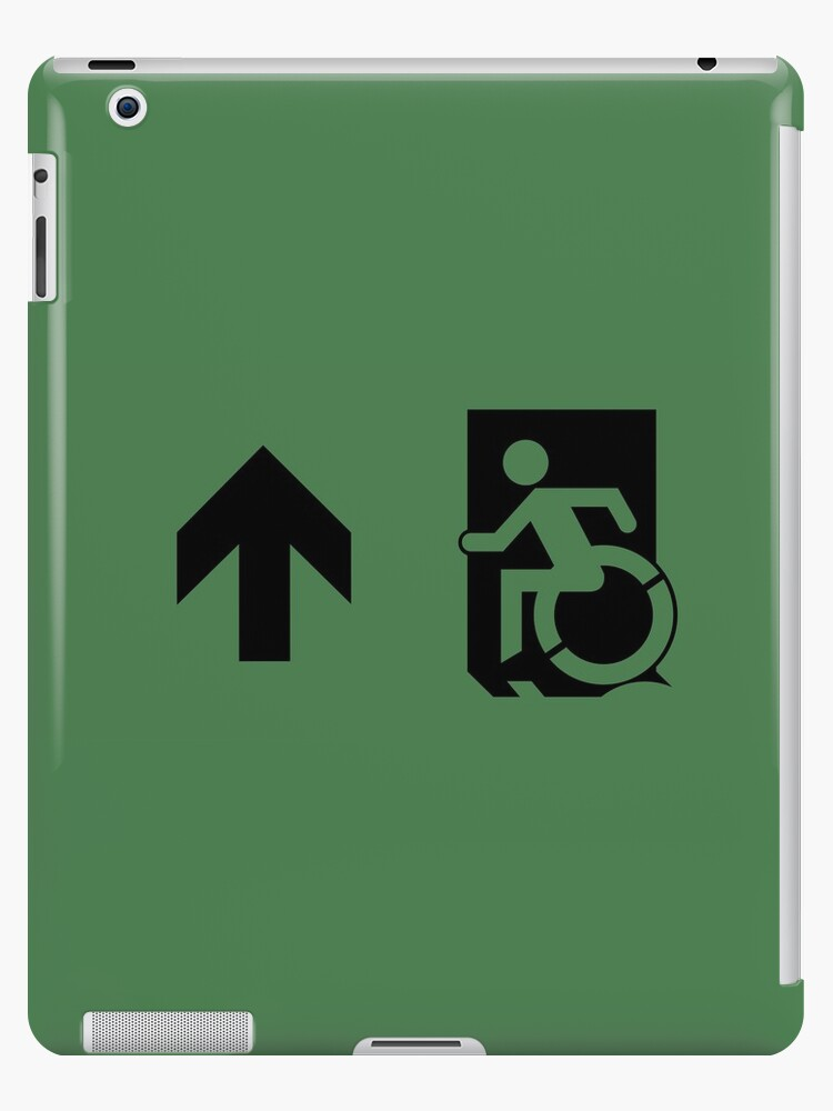 Accessible Means of Egress Icon Emergency Exit Sign, Left Hand Up Arrow by Egress Group Pty Ltd