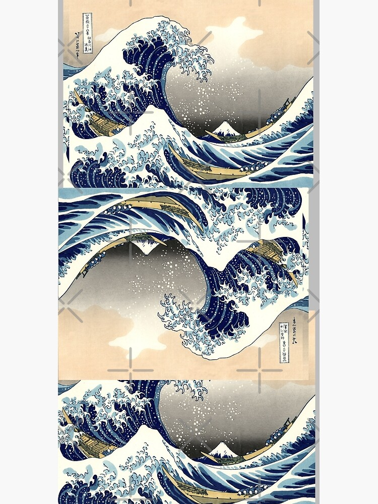 The Great Wave off Kanagawa - Hokusai by SuperAceDesigns