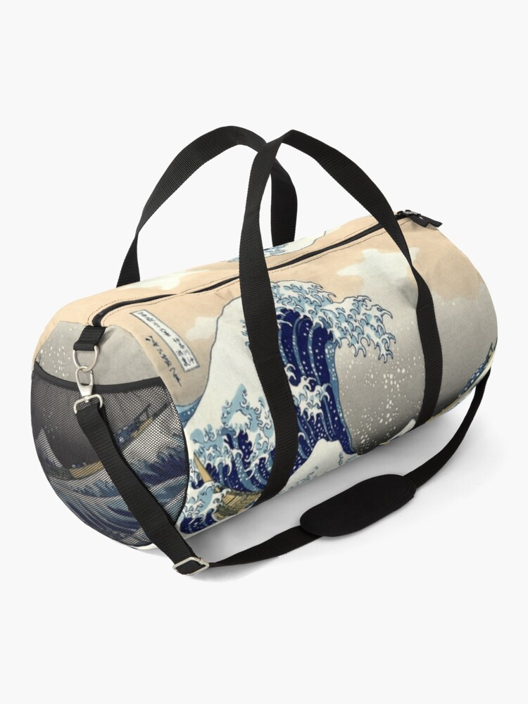 Alternate view of The Great Wave off Kanagawa - Hokusai Duffle Bag