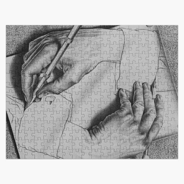 ESCHER DRAWING HANDS Jigsaw Puzzle