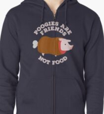Poogies Are Friends - Not Food! Monster Hunter Zipped Hoodie