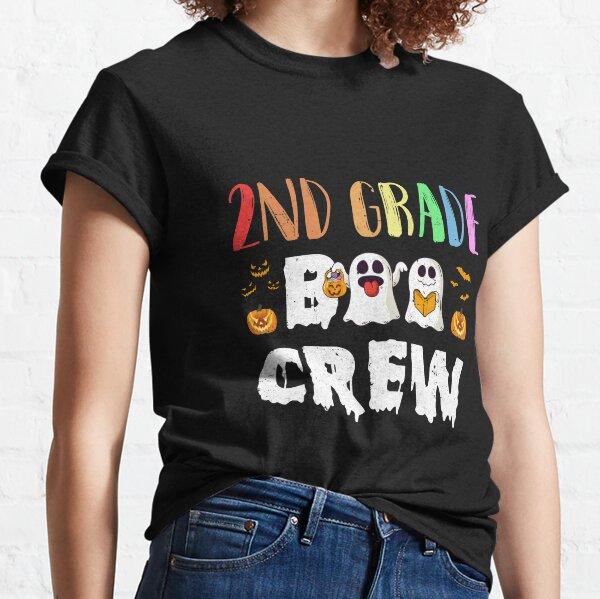 Cute Boo Crew 2nd Grade Teacher Halloween Classic T-Shirt