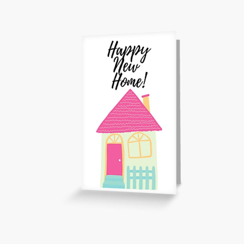 Personalised Handmade première NOUVELLE MAISON carte pendaison bonne chance Home Sweet Home