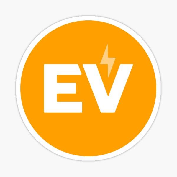 Autocollant EV Circle - Orange Sticker