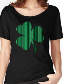 St. Patrick's day: Shamrock Barcode Women's Relaxed Fit T-Shirt