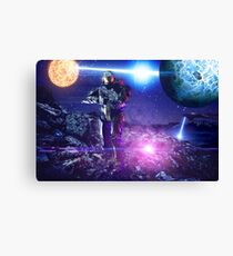 Master chief John-117 Halo rings Spartan  Canvas Print