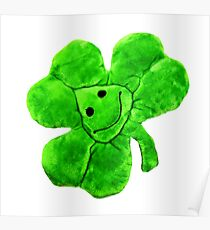 Funny Irish Shamrock Poster