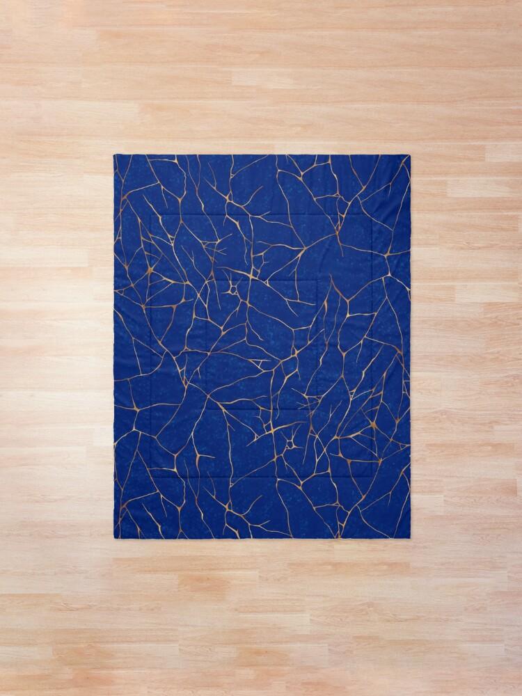 Alternate view of Kintsugi Sapphire Blue Comforter