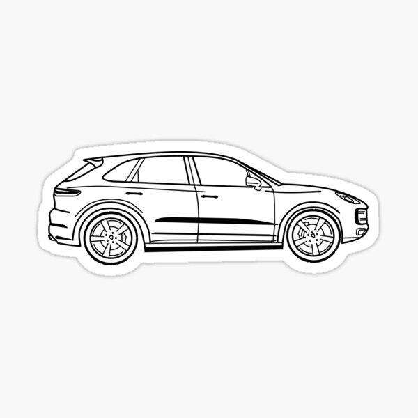 Porsche Cayenne Sticker