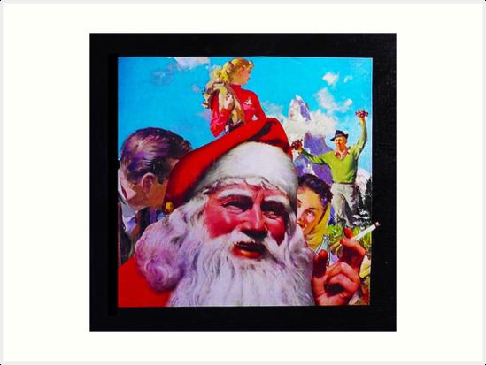 Photo Bomb Smoking Santa Claus by Drenco