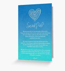 Affirmation - Sacred Path Greeting Card