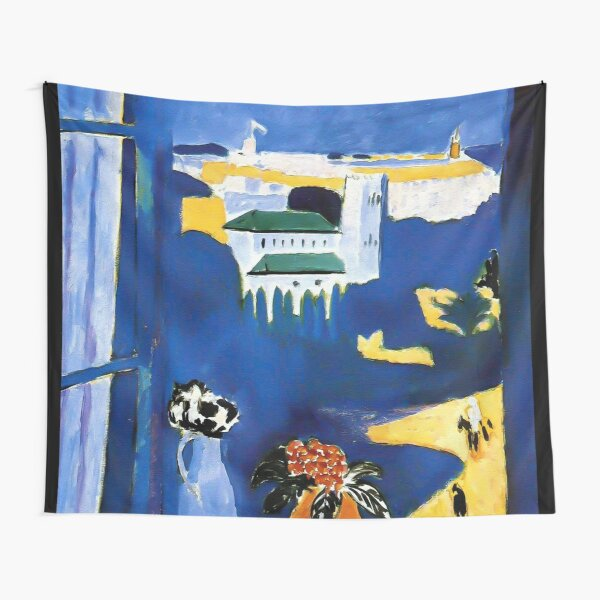 Henri Matisse - The Window at Tangier (La Fenêtre à Tanger) 1912 Artwork Tapestry