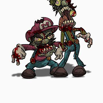Zombie Mario & Luigi by AvenueRec