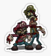 Zombie Mario & Luigi Sticker