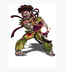 Zombie Ryu (Street Fighter) Photographic Print