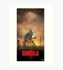 Gonzilla Art Print
