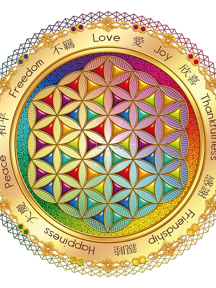 The Flower of Life - light with framing by Lilyas