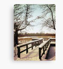 Wintertime At Sheldon Marsh - Overlook Canvas Print