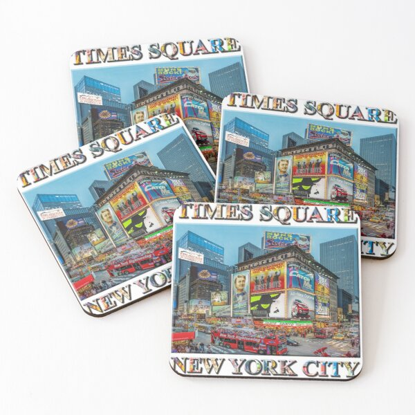 Times Square III Special Finale Edition poster Coasters (Set of 4)