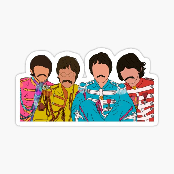 sgt pepper's lonely hearts club band Sticker