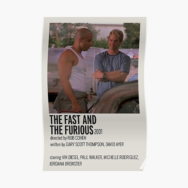 Affiche du film Fast and Furious Poster