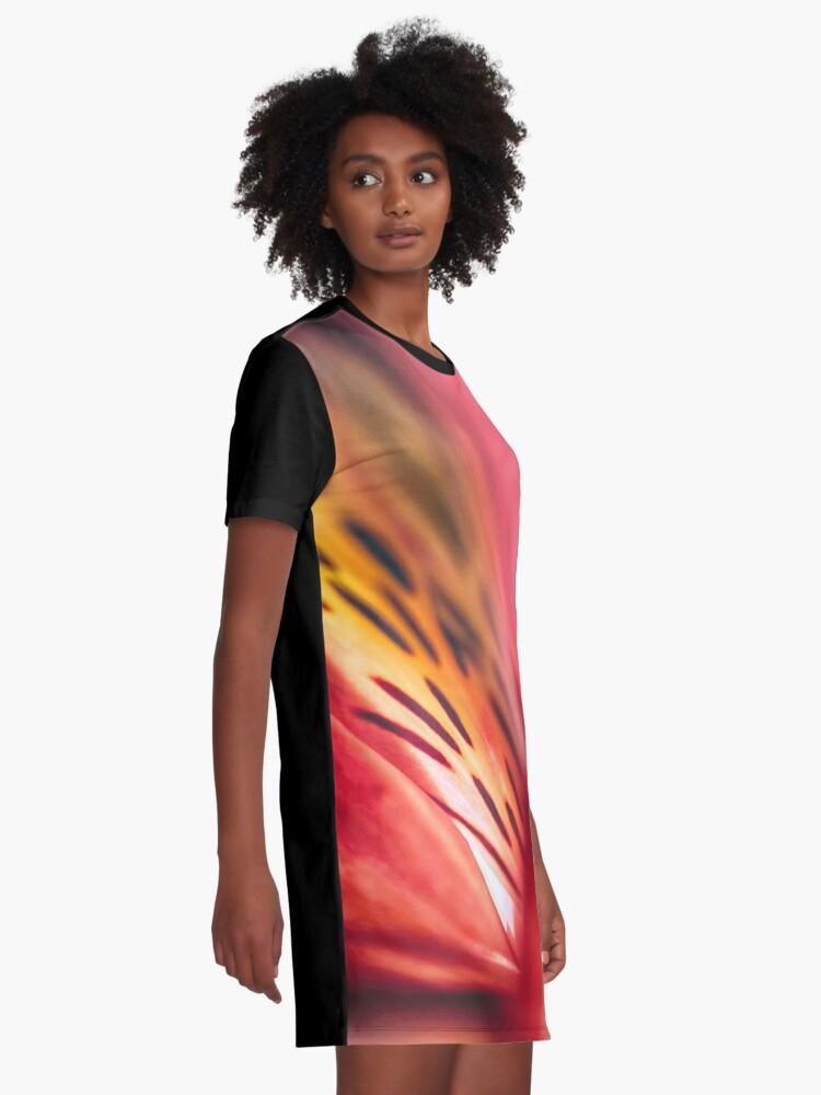 Alternate view of Flower Mystical Graphic T-Shirt Dress