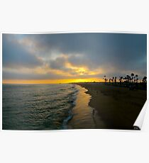 Newport Beach California Sunset Poster