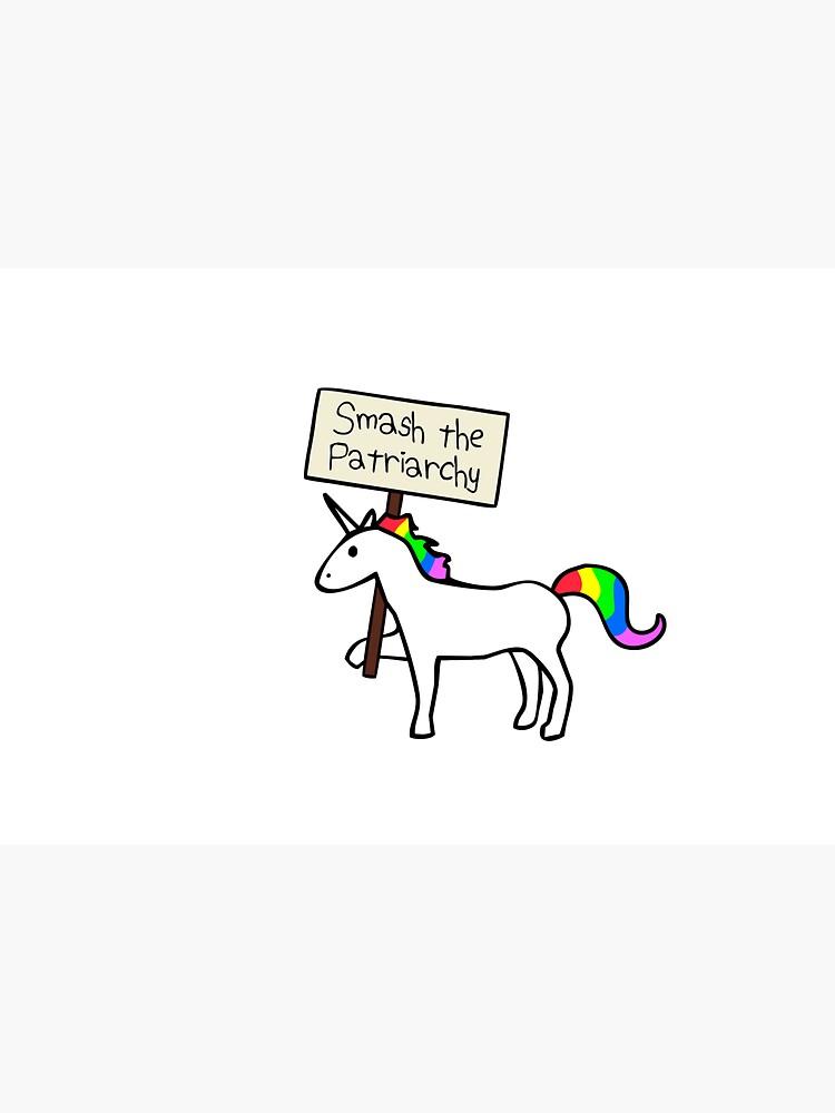 Smash The Patriarchy (White Unicorn) by jezkemp