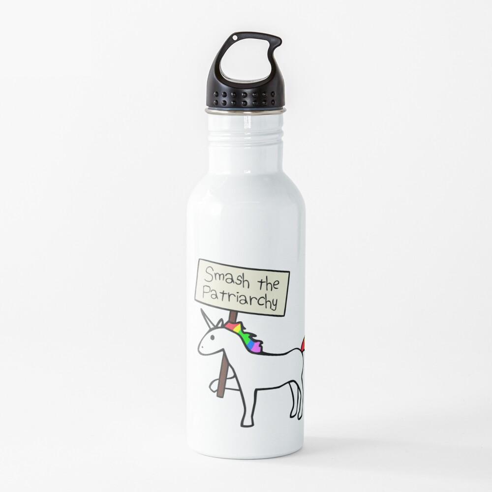 Smash The Patriarchy (White Unicorn) Water Bottle