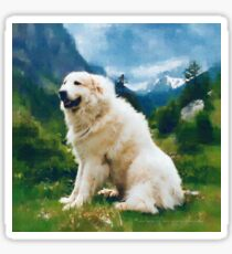 Great Pyrenees In The Valley Sticker