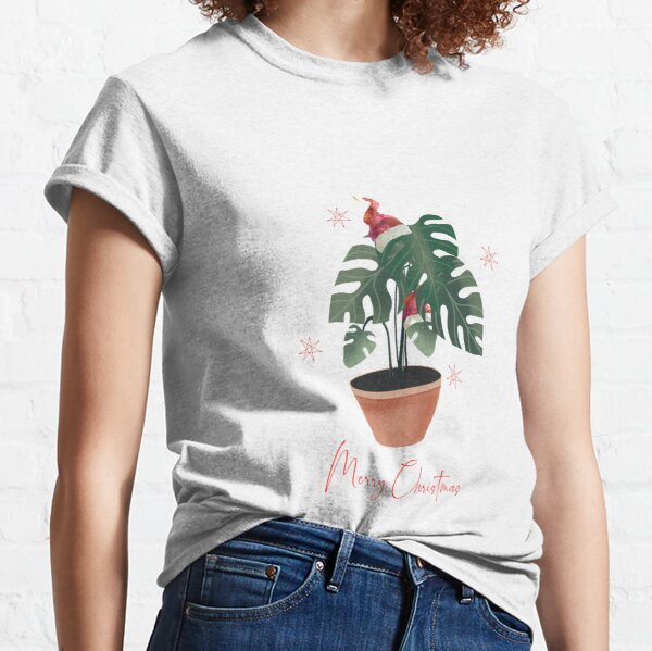 Monstera Deliciosa Merry Christmas Classic T-Shirt