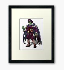 Zombie M Bison (Street Fighter) Framed Print