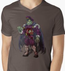 Zombie M Bison (Street Fighter) Men's V-Neck T-Shirt