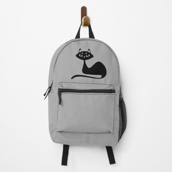 Black Cat On Backpack