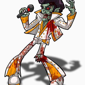 Zombie Elvis by AvenueRec