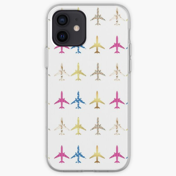 Airplanes Pattern iPhone Soft Case