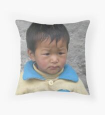 Left Alone Throw Pillow