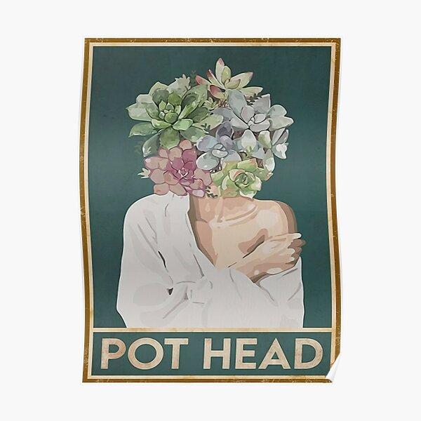 girls pot head white Poster
