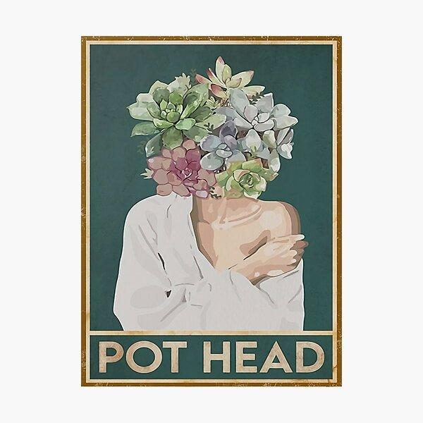 girls pot head white Photographic Print