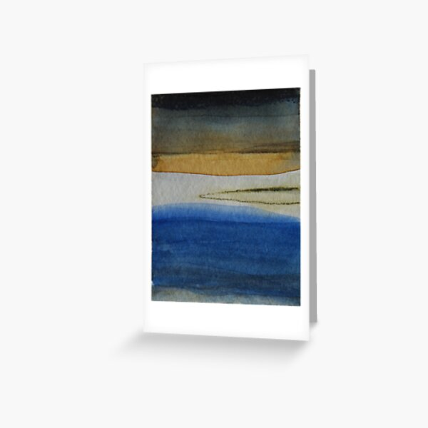 The Bay Abstracted Greeting Card
