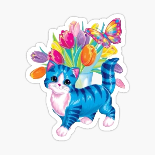 Lisa Frank Cute Cat Sticker
